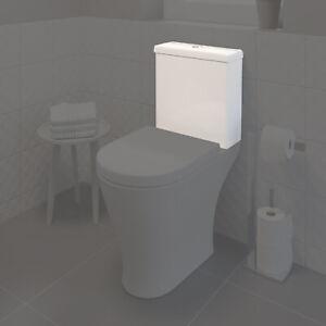 Bathroom Toilet Cistern Only Dual Flush Ceramic WC 375x378mm White Gloss