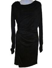 Felder Felder Sasa Draped Jersey Dress sz 8 US / 12 UK black NEW