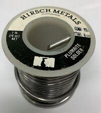 Solder 4060 Hirsch Plumbrite 125 Dia1 Lbspool