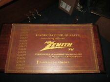 "Large 1960's 70's Vintage Zenith Quality Handcrafted TV sign measures 24"" x 14"""