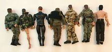 Lot of 7 vintage toys military action figures- Totsy- Placo