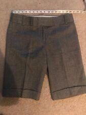 J.Crew 100% wool Black  gray city fit long leg Bermuda shorts w pockets size 6