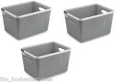 NAKODA Combo Of 3 Plastic Basket Storage Basket  (Pack of 3)