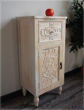 Nachttisch CHERRY Vintage Creme Romantic Schrank mit Verzierung