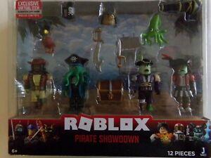 Roblox Mix & Match Pirate Showdown Figure 4-Pack Set 12 Pieces Plus Virtual Item