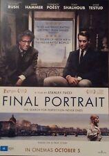 Promotional Movie Flyer For Final Portrait Geoffrey Rush