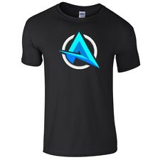 Ali A Black T-shirt For Kids Gaming Gamer Youtuber Fan Size M 7-9 Years