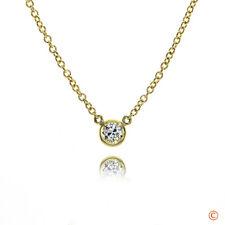"Brian Gavin Diamonds 18k Yellow Gold Melee Diamond Bezel-Set Necklace 16"""