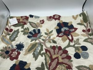 New Pottery Barn Aviva Floral Embroidered Lumbar Pillow Covers Set of 2