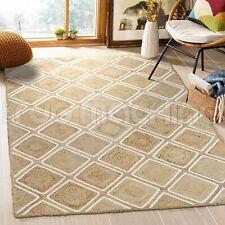 Priya Braid Woven Jute Beige Parquet Natural Floor Rug - 3 Sizes DELIVERY
