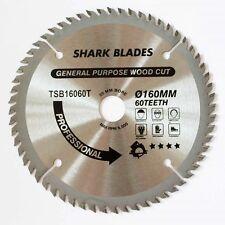 TCT Circular saw Blade 160mm x 20mm x 60T By SHARK BLADES