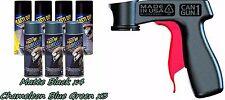 Performix Plasti Dip Wheel Kit 4 Matte Black 3 Chameleon Blue-Green Cans V-Grip