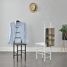 Herrendiener Garderoben-Stuhl Kleider Ständer Stummer Diener Butler Dunkelgrau