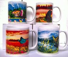 SET OF 4 BUTTERFLIES MUGS OR ONE MUG CUP DRINKING GIFT KITCHEN Women's Day
