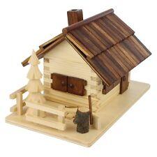 Forest Wooden Log Cabin Made In Germany Incense Burner Smoker