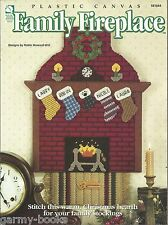 Family Fireplace w/ Stockings Holiday Christmas Plastic Canvas Pattern HOWB NEW