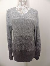 Gander Mountain Pullover Sweater Mtn Ombre Grey Gray Womens 2X Outdoor Casual