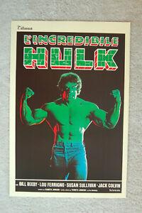 The Incredible Hulk TV promotional poster Poster #2 Bill Bixby Lou Ferrigno