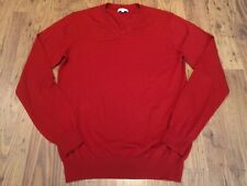 "REISS Size M (40"") 100% Wool Red Jumper Top V-neck Boxy Blogger"