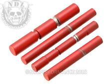 for Glock Gen 1-3 3 Pin Models Pin Kit Stainless Steel Cerakote USMC Red 4 Pins