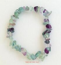 Bracelet RAINBOW FLUORITE Crystal Chips Gemstone protective healing Jewellery