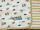 NEW Baby Boy Carter's DOG GONE CUTE Cotton Jersey Knit Blanket Stripe Brown Car