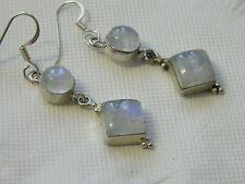 Exquisite Drop Earrings Moon Stones set in .925 Silver