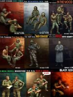 1/35 Resin Figure Model Kit BigSet (17 figures) Vietnam War US Soldiers Unpainte