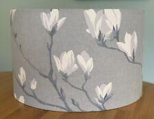 Handmade Lampshade Laura Ashley Magnolia Grove Slate Grey Floral Fabric