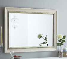 John Lewis Orabelle Bevelled Wall Mirror Ivory Antique Silver 117x94cm