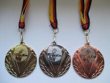 Bogenschießen Pokal Medaillen 50mm 3er Set Deutschland-Bändern Turnier Emblem
