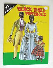 Antique Black Doll Paper Dolls Peggy Jo Rosemond Hobby House 1991 Uncut