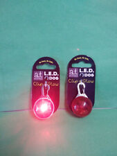 a.t. pet products LED dog collar clip light