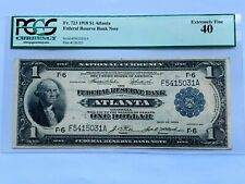 1918 $1 Atlanta Federal Reserve Bank Note - PCGS 40 Extremely Fine - Fr. 723