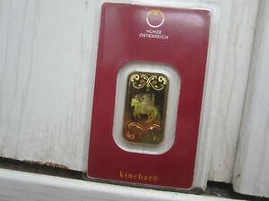 Goldbarren Kinebar 10g 999,9 Gold Blister 10 Gramm GOLD ÖSTEREICH