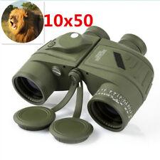 Military 10x50 HD Navy Binoculars W Rangefinder Compass Telescope Night Vision