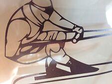 WaterSki Racing Left/Right Stickers Chrome, Gun Metal, White, Silver Water ski