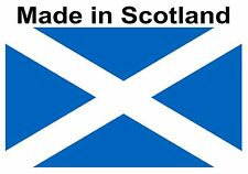 100 made in Scotland flag Stickers self adhesive Labels 25mm x 15mm Light Blue