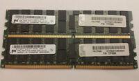 Micron IBM 8GB Kit - 2x 4GB DDR2 2Rx4 667mhz PC2-5300P ECC Registered Server RAM
