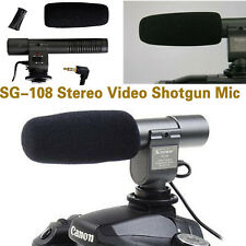 Buyee SG-108 Stereo Video Shotgun Microphone for Nikon Canon Camera DV Camcorder