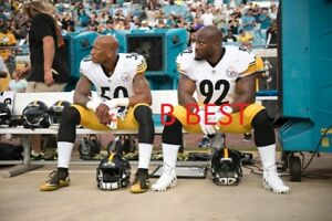 RYAN SHAZIER/JAMES HARRISON PITTSBURGH STEELERS 2015 CLASSIC COLOR 16x20 PHOTO.