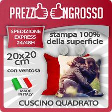CUSCINO QUADRATO 20X20 RETRO COLORATO PERSONALIZZATO CON FOTO, TESTI, LOGHI..