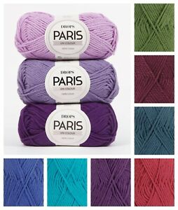 Drops PARIS Fun & Easy 100% Cotton Eco Aran Weight Knitting Yarn 50gr Crochet