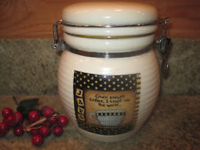 """Donna Atkins Canister JAVA """"With enough coffee I could rule the world"""" 32 oz."""