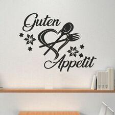 Wandtattoo Wandaufkleber Aufkleber SET Küche Guten Appetit Herz Löffel Gabel 107