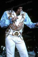 8x10 Print Elvis Presley Performaning on Stage 1970's #ELPA