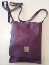 I Medici Firenze Purple Italian  Soft Leather Crossbody Handbag Purse NEW