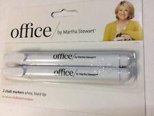 Office by Martha Stewart Liquid Chalk Markers, 2 Pack, White (28647)