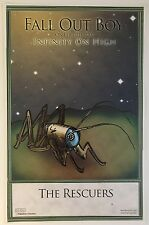Fall Out Boy RARE PROMO ONLY poster # 2 of 5 Infinity On High The Rescuers