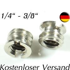 """1/4"""" - 3/8"""" Zoll Stativ Spigot Gewindeadapter für Stativgewinde Lampen Adapter"""